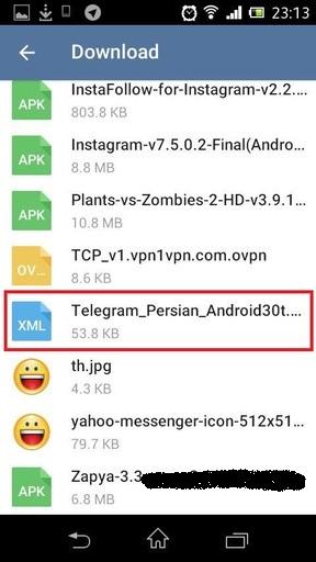 آموزش فارسی کردن تلگرام Telegram اندروید + تصاویر