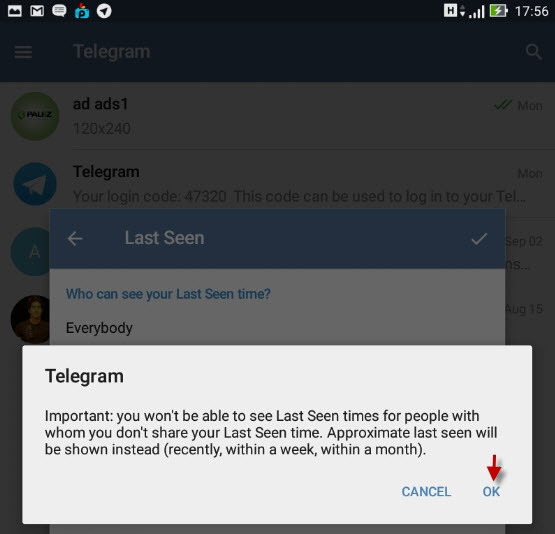 آموزش مخفی کردن آخرین بازدید در تلگرام Telegram + تصاویر